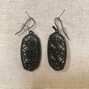 Kendra Scott Jewelry - Kendra Scott Elle Gunmetal Gray Earrings